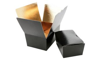One part paper gift box with golden inside