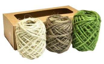 Верёвочки из джута 3-х цветов