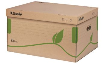 Eco-friendly cardboard archiving box Esselte open from the top