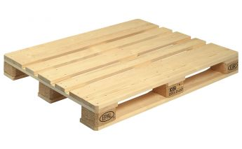 Wooden EURO pallets marking EPAL with a klema