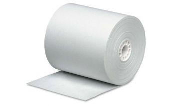 Cash register tape made of offset paper