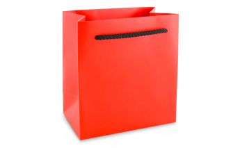 Colored laminated paper gift bags