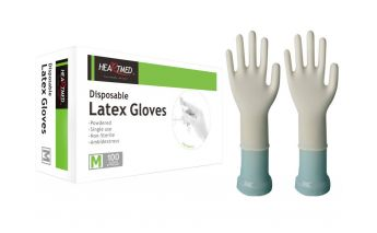 Latex gloves, with powder