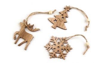 Wooden hang decoration