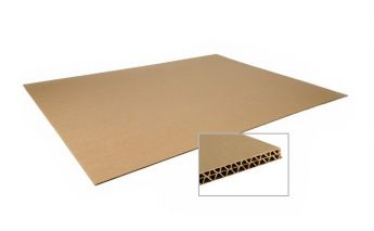 Five layers corrugated cardboard sheets 7 mm