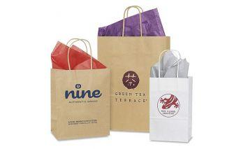 Individuali šilkografinė ir ofsetinė spauda ant popierinių maišelių