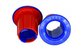 Plastic stretch film dispenser for convenient and quick operation