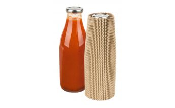 A durable cardboard protective sleeve for transporting bottles