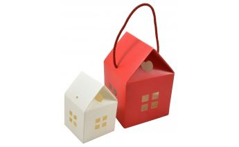 Paper hut gift box, a small house