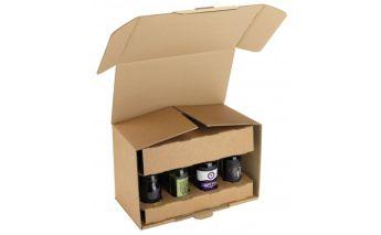 Kartoninė dėžė 8 buteliukams