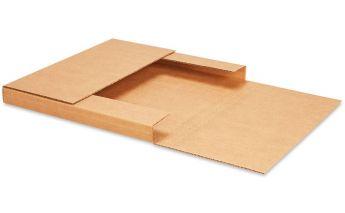 Plokščios kartoninės dėžės su reguliuojamu aukščiu