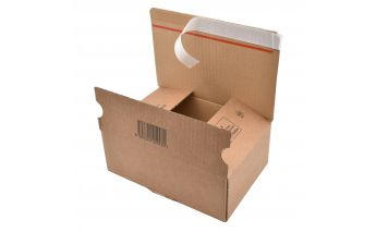 Self-adhesive boxes