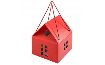 Popierinė dovanų dėžutė namelis su pakabinimu