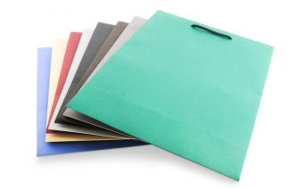 Colored matte paper gift bags