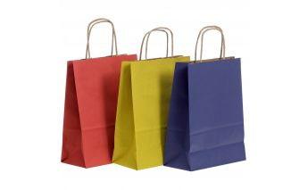 Spalvoti dovanų maišeliai iš Kraft popieriaus