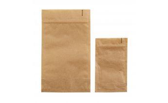 Doy-pack maišeliai be langelio iš rudo kraft popieriaus