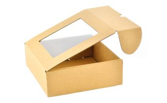 One part paper gift box with window