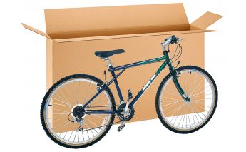 Cardboard bicycle box perfect for bicycles, paintings, TV