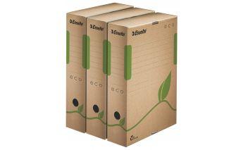 Ekologiškos archyvavimo dėžutės Esselte A4 iš perdirbto kartono
