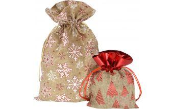 Medžiaginiai dovanų maišeliai
