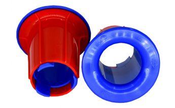 Plastikiniai laikikliai pakavimo plėvelei Stretch