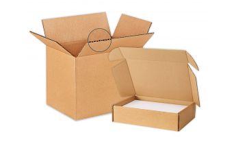 Kartoninės dėžės M dydžio siuntų paštomatams
