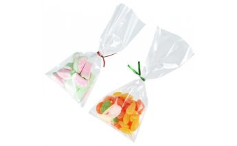 Transparent cellophane bags without bottom