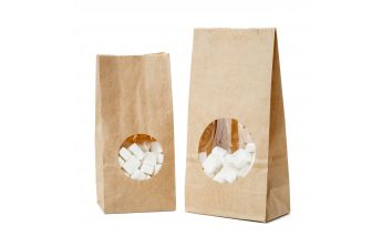 Paper bags with a window