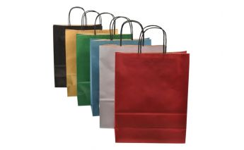 Spalvoti kraft popieriaus maišeliai