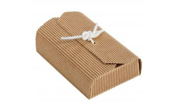 Kartotinės vienos dalies dovanų dėžutės užrišamos juostele