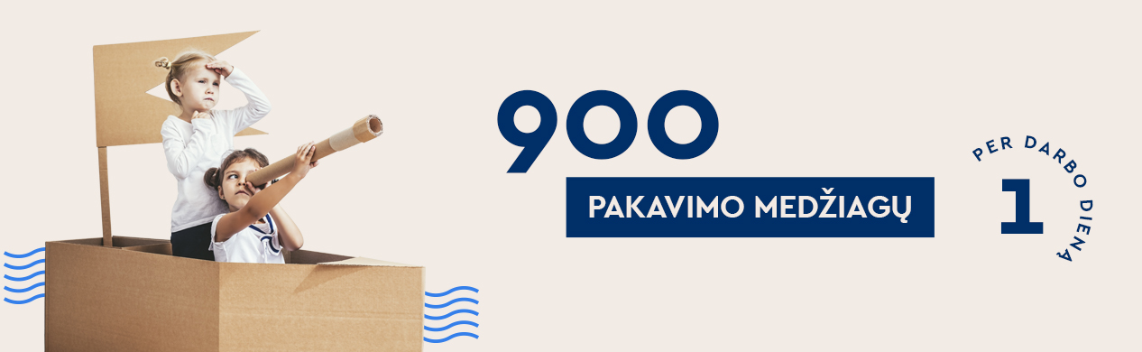 900 pakavimo medžiagų